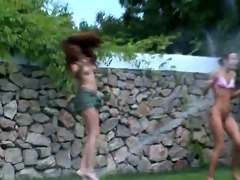 irish honeys watersports in the garden