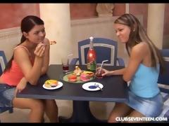 lesbo girls sharing rabbit vibrator