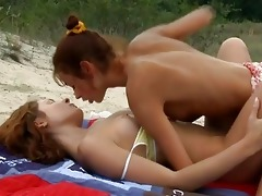lesbo allies on the beach