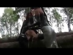 outdoor lesbo rubber romp