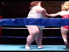 giant boob big beautiful woman wrestles a midget