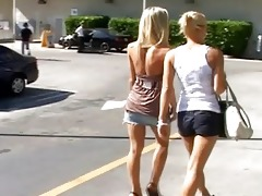 4 blonde lesbians pick up an some other