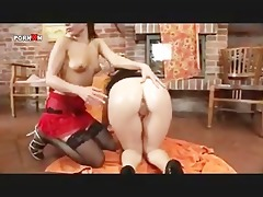 double anal fisting lesbian babes