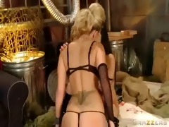sexy angel receive chastise with dildo toys by