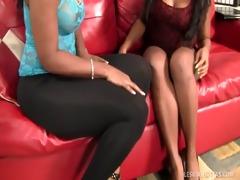 breasty swarthy lesbian babes receive their freak