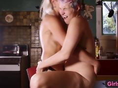 cuties out west - wild lesbo thong on fuck and