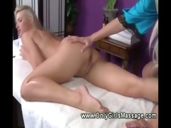 blond masseuse receives down and sucks for her