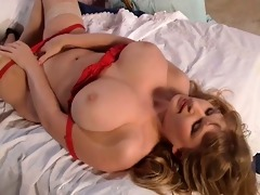 blond chick with large natural meatballs part7