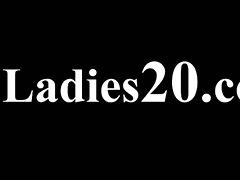bushy lesbian babes in nylon pants loving