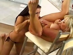 lesbos with large tits have an afternoon of wet