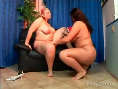 undressed plump lesbo pussy finger drilled on the