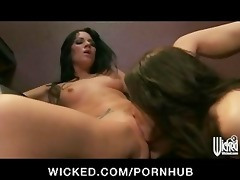 taut twat licking youthful lesbo pornstar fuck in