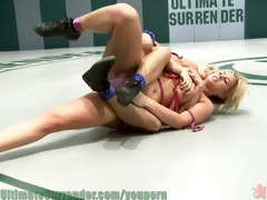 cowgirl vs shortstop in hardcore wrestling