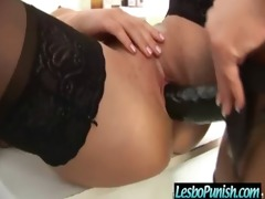 breasty lesbian babes get fucked and punished