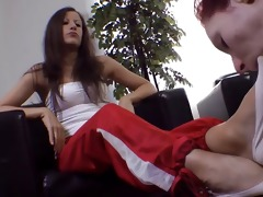 lesbo female-dominant use lesbian feet bondman