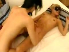 nice masked face lesbian babes