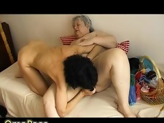 old overweight granny has joy with old hawt older