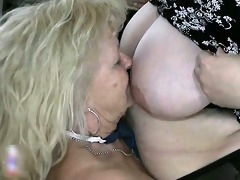 golden-haired granny likes having lesbo sex