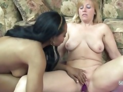older liisa fucking ebon kelly with her toys