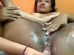 lesbo latin hottie toys girlfriends butt