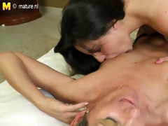 sexy daughter seducing a wicked aged housewife