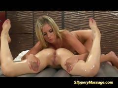 lesbo women sexy massage fingering twat