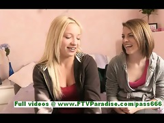 nikkie and aubrey amazing lesbo women giving a