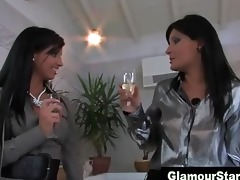 dressed nylons euro lesbian babes