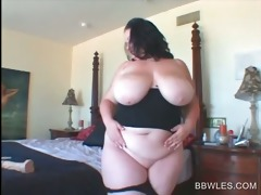 breasty big beautiful woman lesbo self fucking