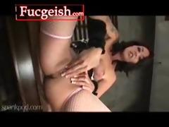 gorgeous tattood dark brown lesbos masturbate