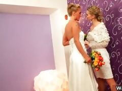 sexy blond bride acquires her enchanting bald