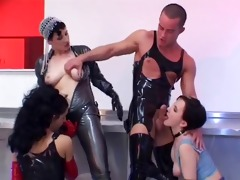 latex taskmaster pair have a fun foursome