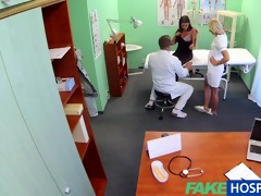 fakehospital busty beautiful patient has her