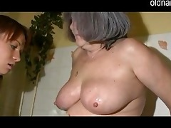 chubby granny acquires her unshaved cum-hole