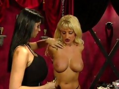 breasty bondage lesbos - scene 11