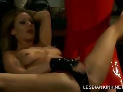 lesbian sadomasochism scene with villein getting