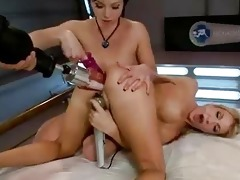 lesbos fist and anal fuck machines jointly