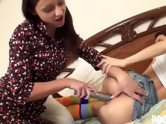 slutty teenager acquires caught toying her love