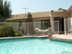 lesbo pool act for joanna cutie