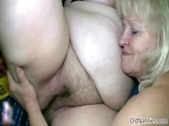 golden-haired granny loves having lesbo sex