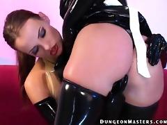 superb lesbian bondman in latex petova gets pussy