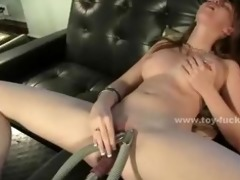 cute youthful sweetheart opening her pussy for